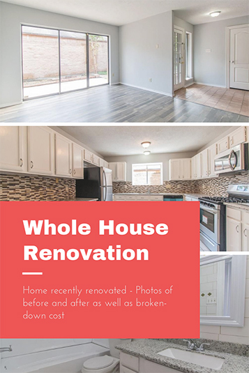 Whole house renovation