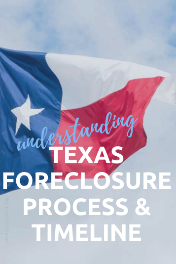 Texas flag flying in the sky texas foreclosure law and timeline